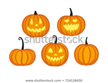 flat style happy halloween pumpkin background design Stock photo © SArts