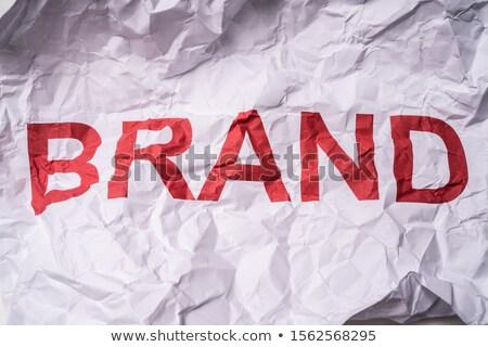 Ráncos fehér papír szöveg márka nyomtatott Stock fotó © AndreyPopov