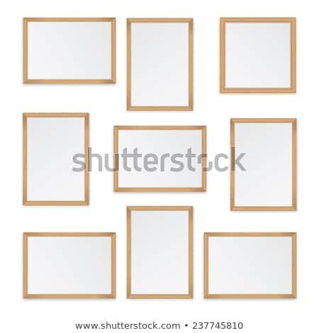 Houten frame licht ontwerp textuur groene Stockfoto © furmanphoto