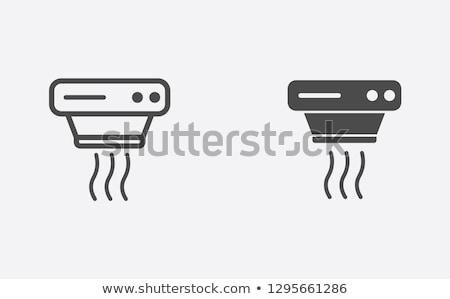 Alarm signaal sensor icon vector schets Stockfoto © pikepicture