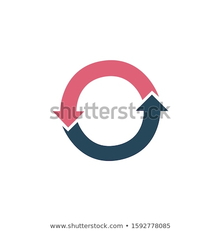 Business infographic design concept with two arrows life cycle diagram. Refresh icon. Stock Vector i Stock photo © kyryloff