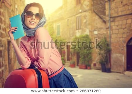 小さな 旅人 旅行 場合 孤立した 白 ストックフォト © Elnur