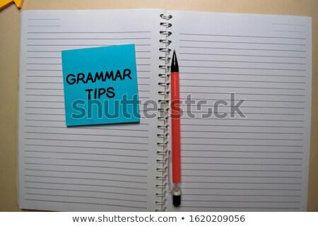 Tippek papír jegyzetek fehér fából készült munka Stock fotó © neirfy