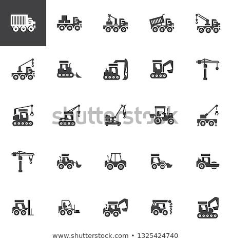 Costruzione macchine bulldozer set industriali Foto d'archivio © robuart