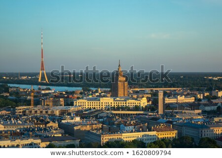 Aéreo panorámica vista academia Riga radio Foto stock © artjazz