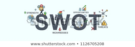 Swot Analysis Strategy Minimal Infographic Banner Vector Stock photo © pikepicture