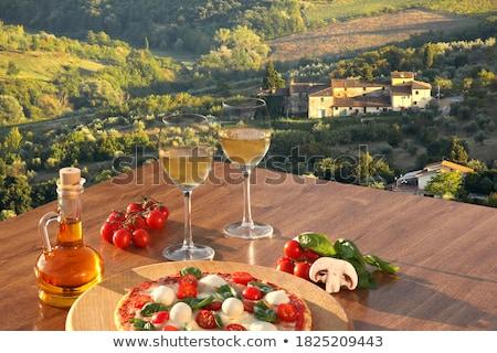 Toszkán szőlőskert piros szőlő kész aratás étel Stock fotó © antonio_gravante
