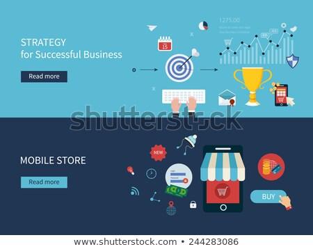 Konkurencyjny analiza działalności rozwoju strategii ocena Zdjęcia stock © RAStudio