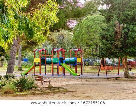 çok renkli oyun alanı tropikal park İspanya küçük Stok fotoğraf © amok
