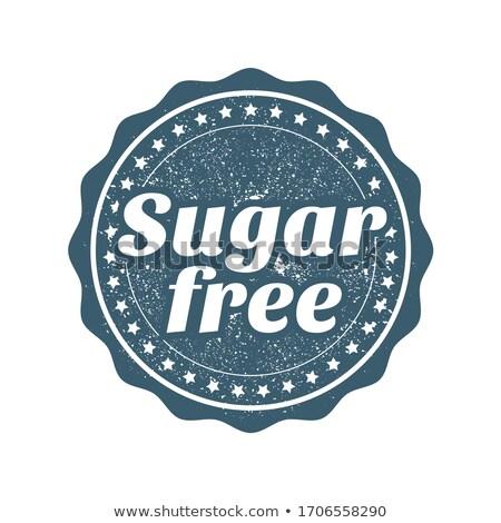 Cukor szabad bélyeg kitűző termékek étel Stock fotó © gomixer