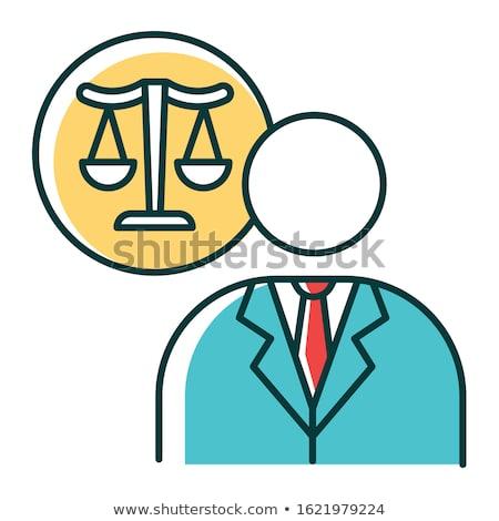 Juridiques représentant icône vecteur illustration Photo stock © pikepicture