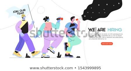 új csapat leszállás oldal cég személyzet Stock fotó © RAStudio