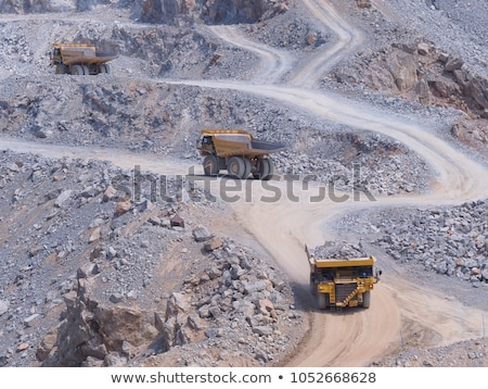Limestone quarry. mining of limestone gravel for construction Stock photo © galitskaya