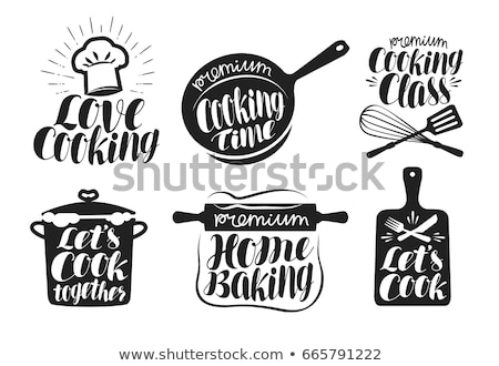 Kitchen cutting board. Logo for Cooking class Stock photo © FoxysGraphic