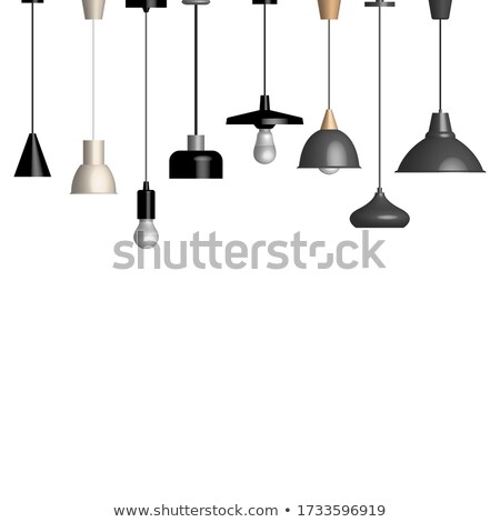 Set of various lamps and fixtures, vector illustration. Stock photo © kup1984