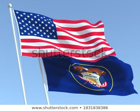 Vlag Utah alle communie lagen Stockfoto © nazlisart