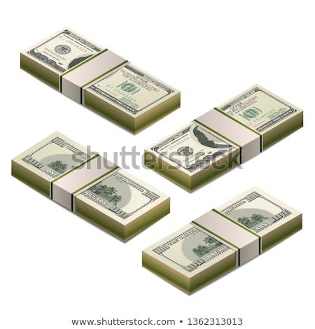 Een honderd dollar bankbiljet Maakt een reservekopie Stockfoto © evgeny89