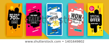 Set of Instagram stories sale banner background, instagram template photo Stock photo © natali_brill