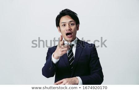 zakenman · foto · geschokt · gezicht · kant · geïsoleerd - stockfoto © RTimages