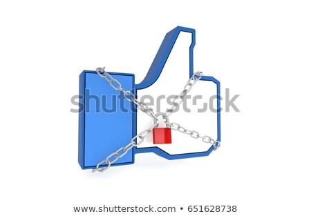 Social media ograniczony mowy kultury cenzura myśl Zdjęcia stock © Lightsource