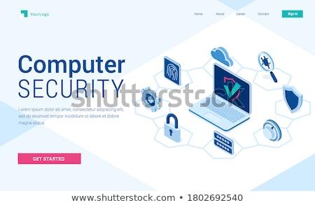 Malwares vírus de computador aterrissagem página computador pirata Foto stock © RAStudio