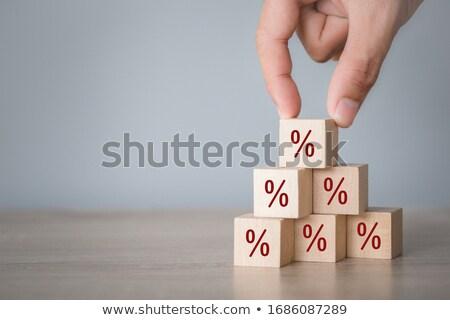 Desconto por cento percentagem assinar mulher Foto stock © AndreyPopov