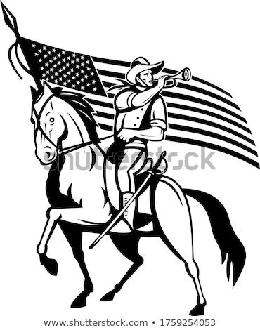 Estados Unidos caballería caballo EUA bandera Foto stock © patrimonio