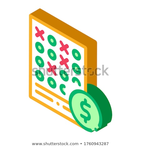 Fogadás lap fogadás hazárdjáték izometrikus ikon Stock fotó © pikepicture