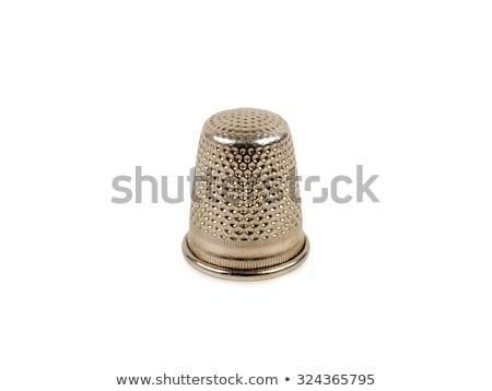 Metaal vingerhoed kleermaker witte Stockfoto © mayboro
