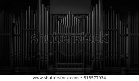 Vecchio pipe organo tastiera chiesa legno Foto d'archivio © SimpleFoto