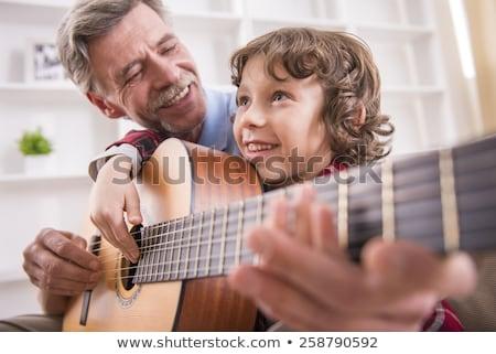 belle · basse · joueur · séance · guitare · photo - photo stock © paha_l