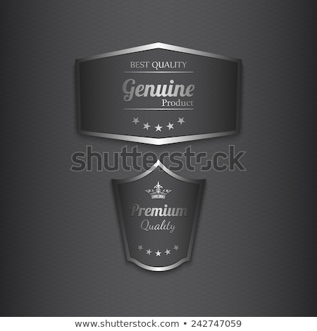 Stock photo: set of metal tags for best sales