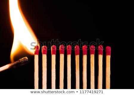 матча зажигание три безопасности матчи огня Сток-фото © Stocksnapper