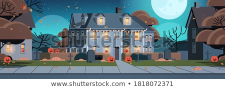 halloween house in darkness Stock photo © pathakdesigner