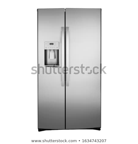 the  American fridge on a gray background stock photo © njaj