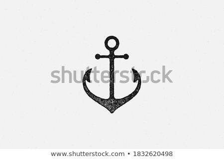 old historic black anchor Stock photo © morrbyte