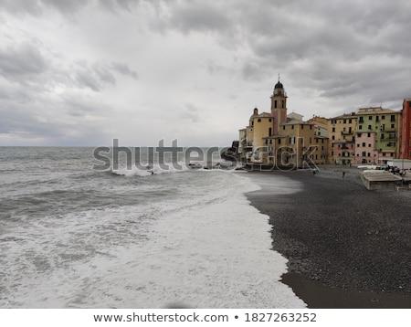 Storm zee beroemd kleine stad water landschap Stockfoto © Antonio-S