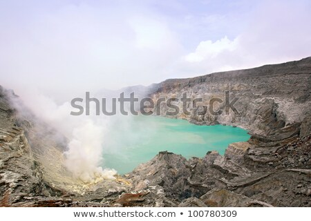 Volcano Khava Ijen Sulfur Mine Stok fotoğraf © vichie81