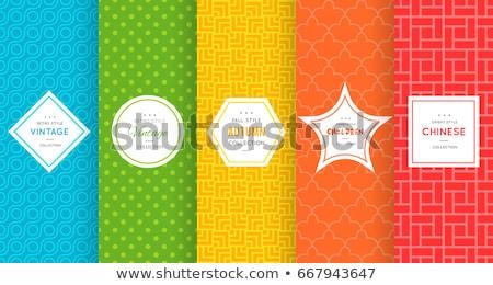 Vektor szett színes címkék elszigeteltség fehér Stock fotó © X-etra