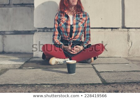 begging young woman Stock photo © marylooo