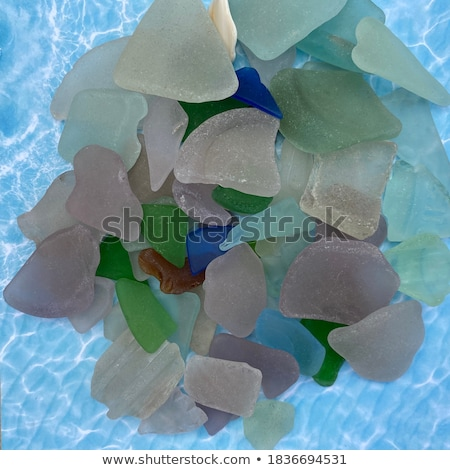 Closeup of glass fragments on beach Stock photo © backyardproductions