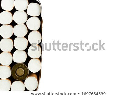 Fumar bala negro Shell caso aislado Foto stock © ShawnHempel