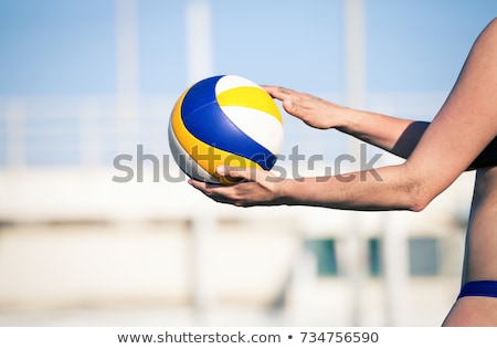 Stock photo: volleyball serve