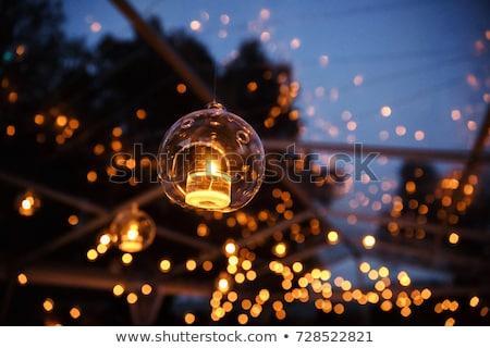 фонарь · ночь · саду · весны · древесины · дизайна - Сток-фото © agorohov