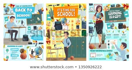 Geografia lição universidade negócio mulheres tecnologia Foto stock © photography33