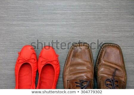 Nők ruha cipők rúzs szexualitás magas Stock fotó © silent47