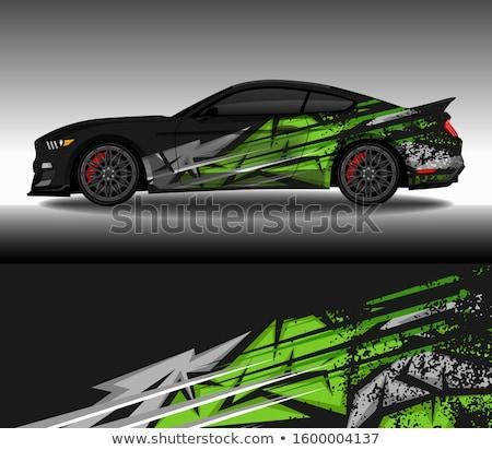 Vector illustration of green truck Stock photo © leonido