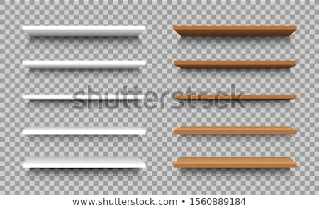 Vector wooden empty realistic bookcase Stock photo © orson