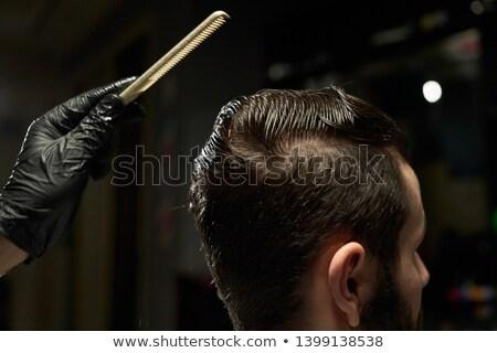 Homem cabelo cara branco escove pessoa Foto stock © photography33