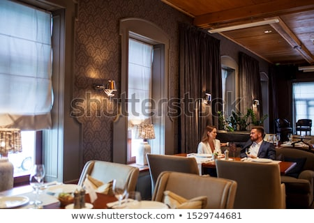 beautiful woman in luxurious interior stock photo © pilgrimego